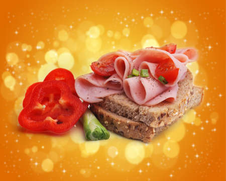 multi grain sandwich: Sandwich in abstract background  Stock Photo