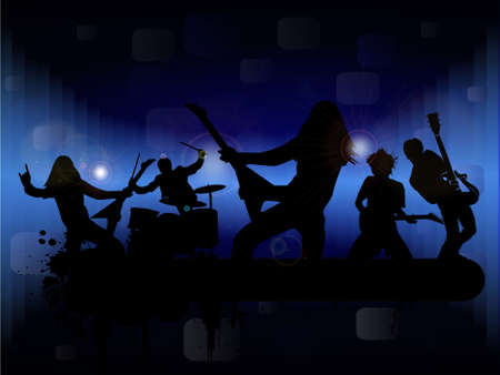 stage performer: Rock band, vector illustration Illustration
