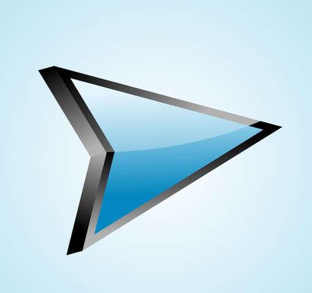 Arrow 3d icon vector illustration  Vector