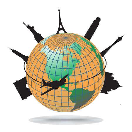 broadband: Wolrd landmarks, vector