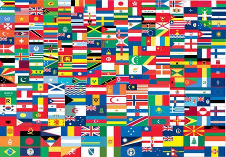 Complete set of Flags of the world with official colors and details