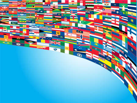 international flags: Complete set of Flags of the world with official colors and details  Illustration