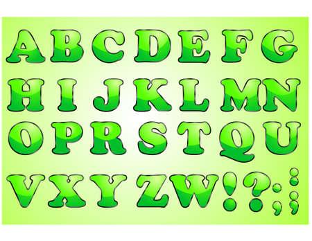 Alphabet letter set, vector Vector