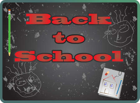 Back to school, vector Stock Vector - 9414922