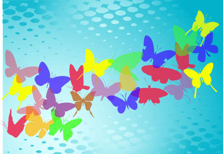 Butterfly silhouettes, vector Stock Vector - 9414928