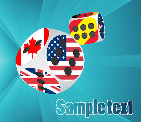 Dice with different flags Vector
