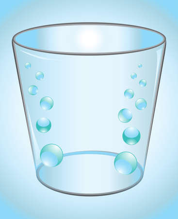 frozen glass: glass of water Illustration