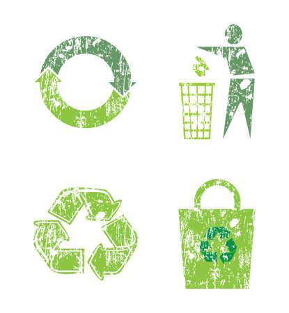 reduce reutiliza recicla: conjunto de signos de reciclaje