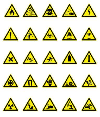 biohazard: Ensemble de signes de danger Illustration