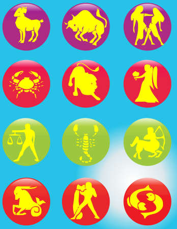 Zodiac signs Stock Vector - 9433265