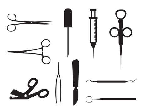 chirurgo: Insieme di segni Medicacl Vettoriali