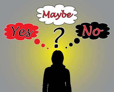 resoudre probleme: Femme d'affaires penser � un probl�me Illustration