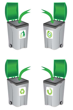 recycle bin Stock Vector - 9433246
