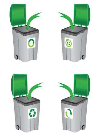 recycle bin Stock Vector - 9433250