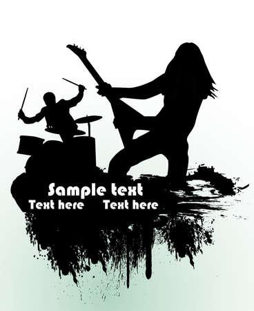 guitariste: Th�me de chanteurs pour le groupe rock