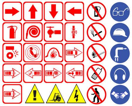 se�ales de seguridad: Conjunto de signos de seguridad Vectores