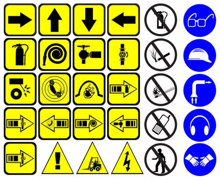 electrical safety: Safety signs set