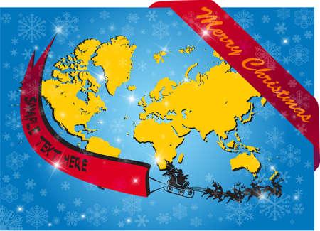 Christmas background, vector illustration Stock Vector - 9686165