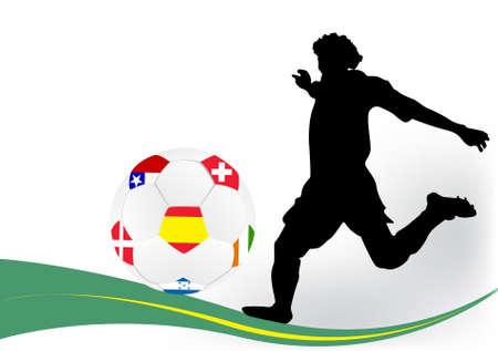 Soccer player Stock Vector - 9433348