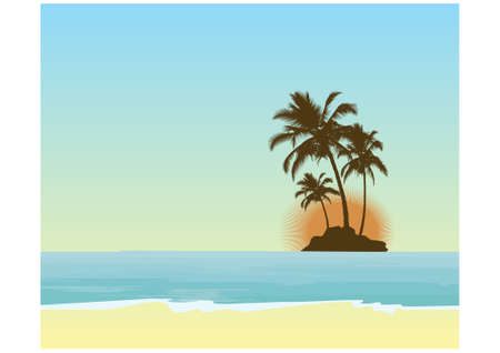 Tropical background Stock Vector - 9433361