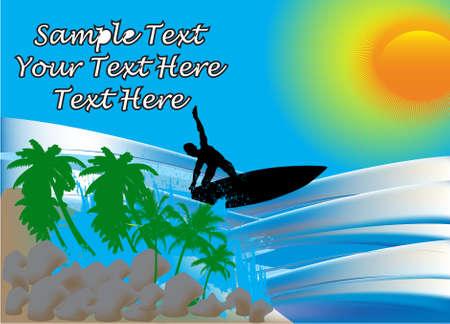 Surfer, vector illustration Stock Vector - 9686153