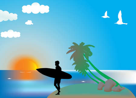 Surfer Stock Vector - 9433355