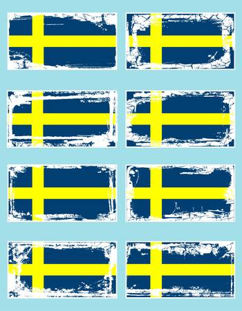 Sweden flag, vector illustration Vector