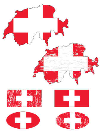 Switzerland flag set  Stock Vector - 9433360