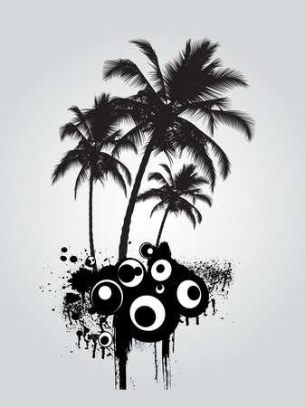 Palm tree, illustration Vector