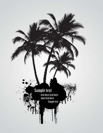Palm tree, illustration