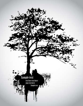 tree silhouette: Tree