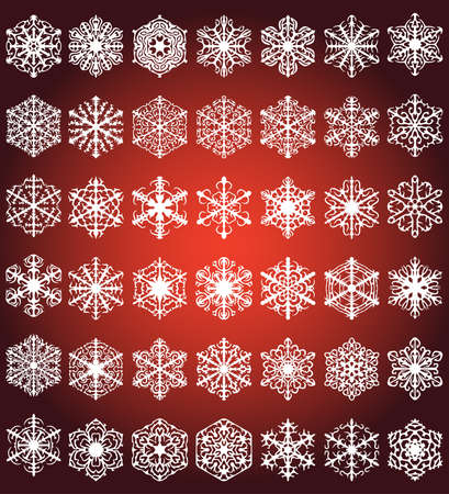 Snowflakes, vector