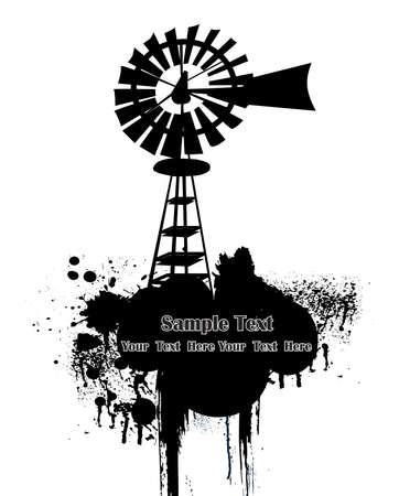 wind generator: Windmill , vector