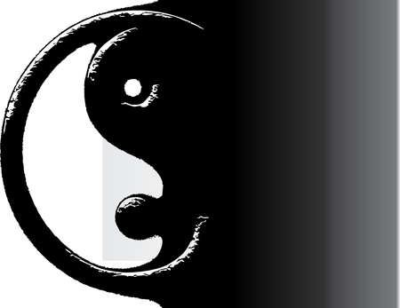 china art: YingYang, vector