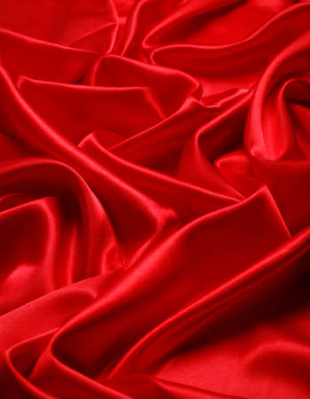 Elegant soft red satin texture photo