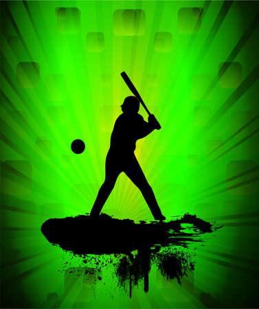 Baseball player, vector illustration