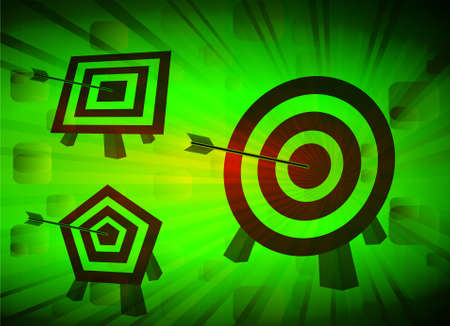 bull's eye: Bulls eye, vector illustration Illustration