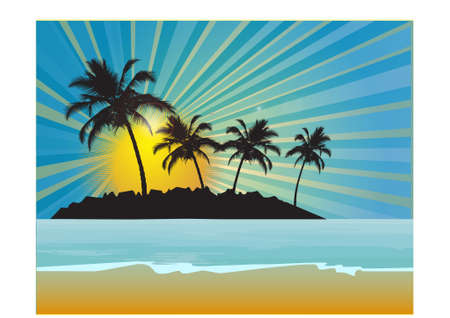 Tropical background, vector illustration Stock Vector - 9717737