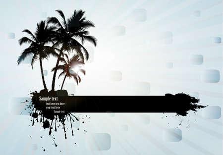 Tropical background, vector illustration