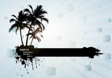 Tropical background, vector illustration Stock Vector - 9717746