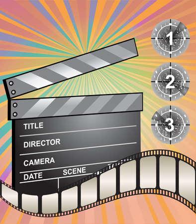 clapper board: Vector clapper board Illustration
