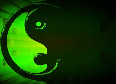 good karma: Yin Yang, vector