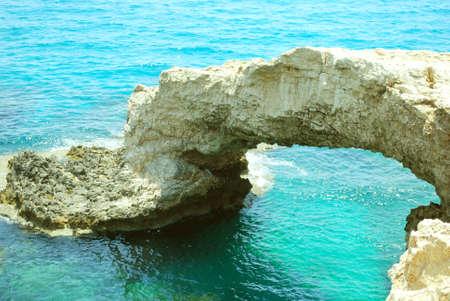 Stone archade in sea, Agia Napa beach ( Cyprus island)