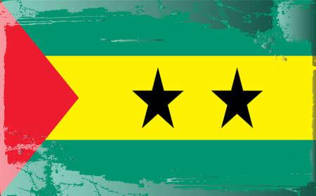principe: Serie de bandera grunge: Santo Tomé y Príncipe  Vectores