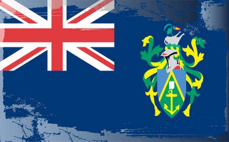 pitcairn: Grunge flag series: Pitcairn Islands