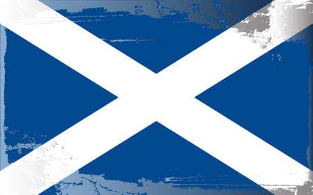 scotland flag: Grunge flag series: Scotland Illustration