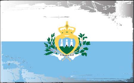 marino: Grunge flag series: San Marino