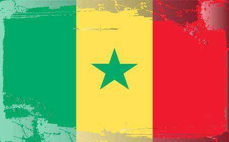Grunge flag series: Cameroon Vector