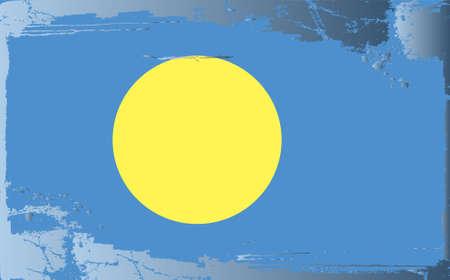 Grunge flag series: Palau Vector