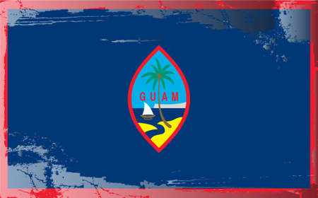 guam: Grunge flag series: Guam Illustration